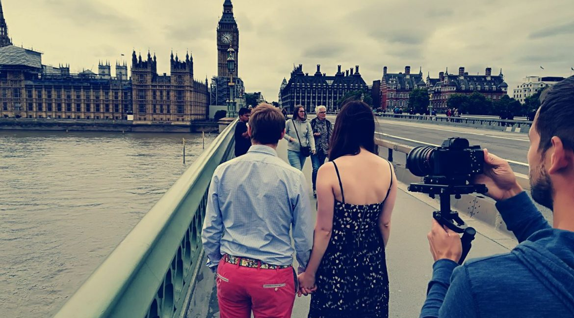 We love filming in London